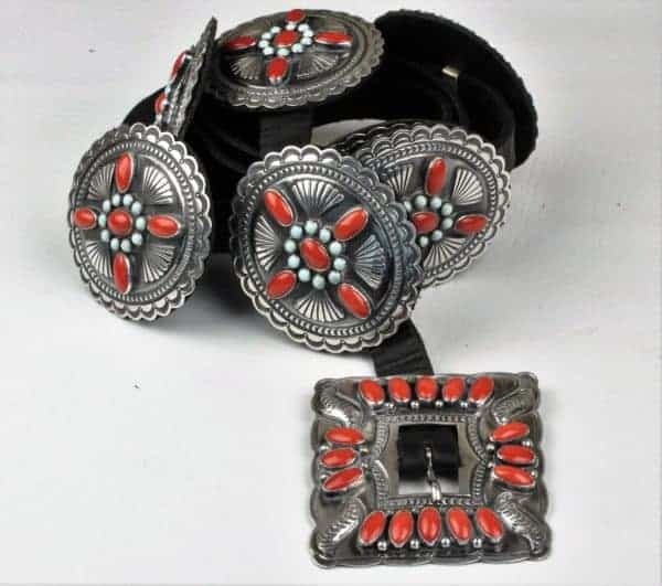 Gary Reeves Sterling Silver Concha Belt